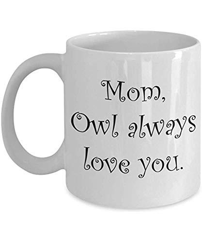 Taza del día de las madres Taza de regalo de novedad de té y café de larga distancia -Wl siempre te amo