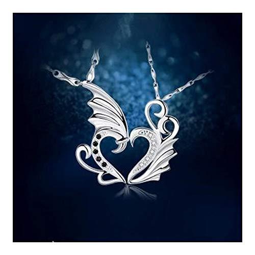 FKJSP corazón cristalino de la joyería del Collar Chica par niñas de la clavícula del Collar de los Hombres de Regalos