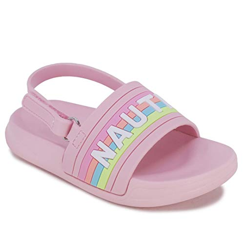 Nautica Kids Toddler Athletic Slide Pool Sandal  Boys - Girls  Toddler- Little Kid-Diamoni Toddler-Prisim Pink Rainbow-12