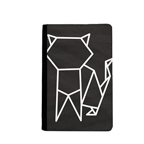 beatChong Gato De Origami Geométrico Abstracto Pasaporte Forma El Bolso De Viaje Carpeta del Portatarjetas De La Cubierta del Caso