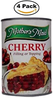 Cherry Pie Filling & Topping (Pack of 4-15oz) 60 ounces Total - Makes 2 Cherry Pies