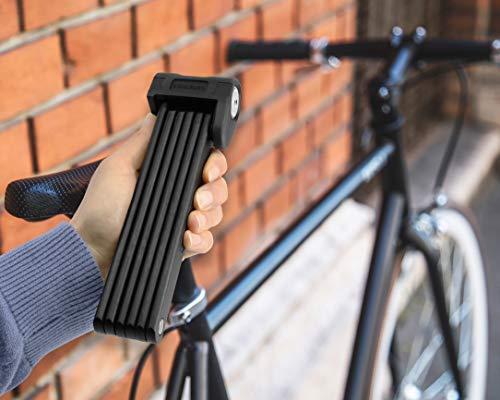 KOHLBURG sicheres Faltschloss mit bequemen Schließmechanismus zum Zudrücken – Fahrradschloss 89cm lang – Klappschloss 670g leicht aus gehärtetem Spezialstahl für E-Bike & Fahrrad - 6