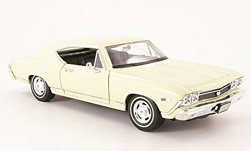 Chevrolet Chevelle SS 396, beige , 1968, Modelo de Auto, modello completo, Welly 1:24