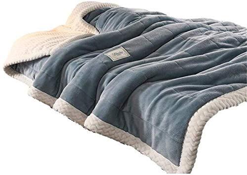 ZSW Throw Blankets Thickening Super Soft Fluffy Warm Franela Colcha de Felpa Mantas de Felpa para sofá y Cama Rosa 120 × 200CM-180 × 200 CM_Azul