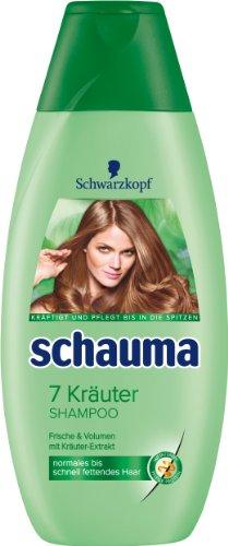 Schauma 7 Kräuter Shampoo, 4er Pack (4 x 400 ml)