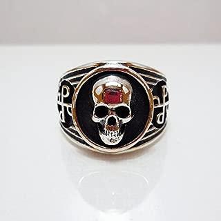 Phantom ring, Skull ring, Silver ring, 925 Sterling Silver Chopper ring, Silver ring, 925 Sterling Silver Style Heavy Biker Harley Rocker Men's Jewelry