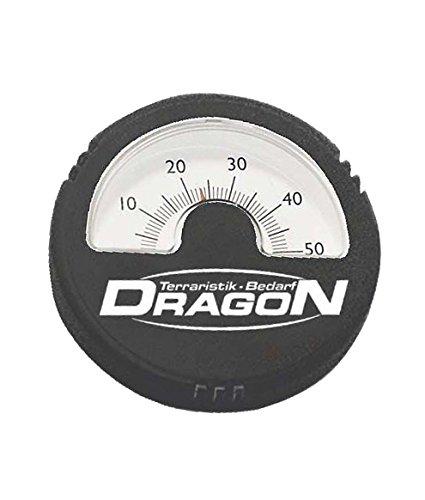 Dragon - Thermometer analog schwarz, rund Ø5,5cm