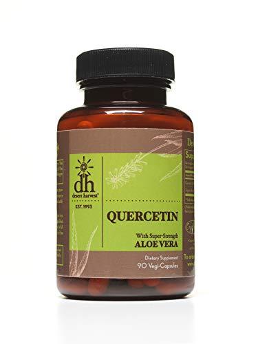 Desert Harvest Quercetin 500 mg (90 Capsules) Antihistamine & Anti-inflammatory. Antioxidant flavonoids Found in Fruits & Vegetables Support Collagen Development & Immune Response