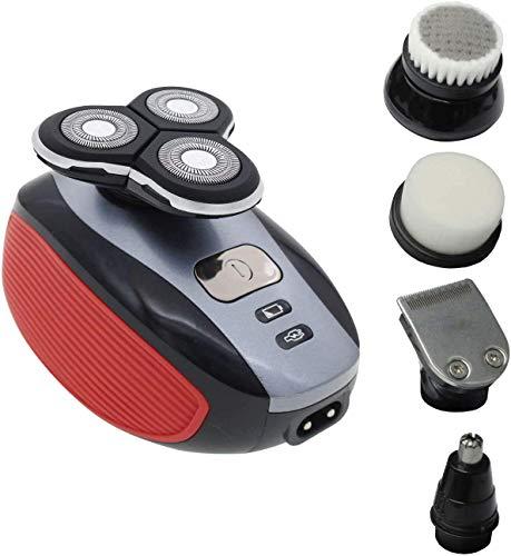 Afeitadora Eléctrica Hombre ROWED 5 EN 1, Máquina de Afeitar recargable e inalámbrica para Barba, Cortapelo sin Cable Con 5 Cabezales