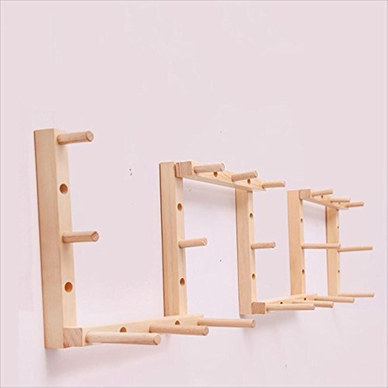 RFJJAL Solid Wood Wall Hooks, Hangers European Creative Multi-Purpose Hanger Bedroom Hook (color   A)