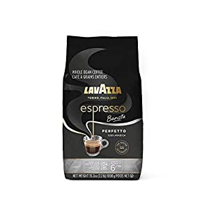 Lavazza Espresso Barista Perfetto Whole Bean Coffee 100% Arabica, Medium Espresso Roast, 2.2-Pound Bag (Packaging may vary)