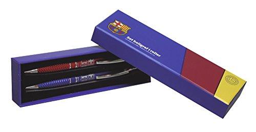 Futbol Club Barcelona - Set boligrafo y Roller Juvenil en Caja Regalo (CYP Imports SET-26-BC)