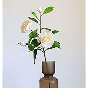 Skyseen 1Pcs Silk Gardenia Artificial Flower Wedding Decorative for Home Decoration (Champagne)
