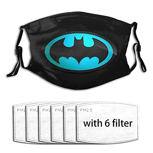 Pourquoi So Serious Joker Batman Masque anti-poussière lavable avec filtre remplaçable au charbon actif doux et respirant pour activités d'extérieur/sport/moto/cyclisme pour adultes