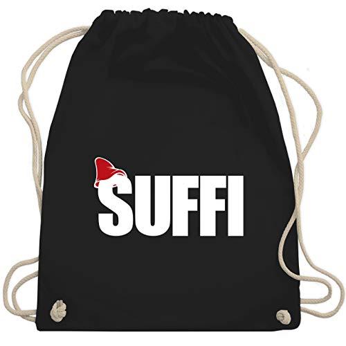 Shirtracer Karneval & Fasching - Suffi Partnerkostüm - weiß - Unisize - Schwarz - Geschenk - WM110 - Turnbeutel und Stoffbeutel aus Baumwolle