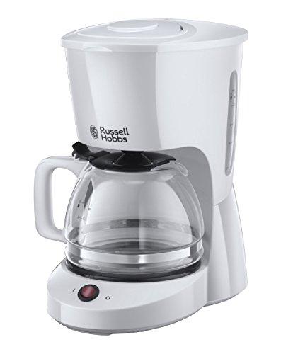 Russell Hobbs Kaffeemaschine Textures weiss, bis 10 Tassen, 1,25l Glaskanne, Abschaltautomatik, Wasserstandsanzeige, Warmhalteplatte, Abschaltautomatik, Tropf-Stopp,975W, Filterkaffeemaschine 22610-56