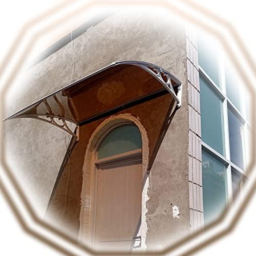 XUEXUE Marquesina De Puertas, Fuera De Toldos para Porche Decoración De Balcón, Silencio Policarbonato Marquesina De Puerta, Protección contra La Lluvia Y La Nieve (Size : 100x200cm)