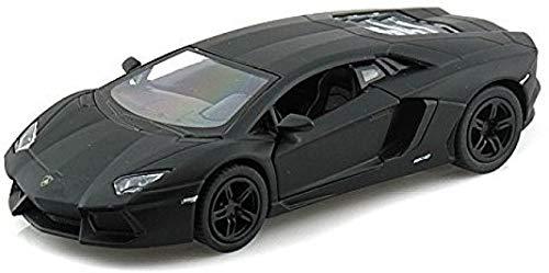 Lamborghini Matt Black Aventador LP 700-4 1:38 5' Pull Back Diecast Car