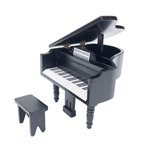 Amosfun Accesorios en Miniatura de La Casa de Muñecas Piano