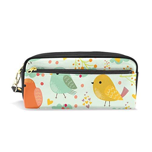 Bonie - Estuche para lápices con diseño de pájaros coloridos y estampado...