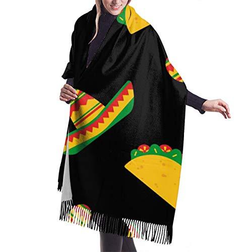 geckor National Taco Day Damen Herbst Winter Schal warme weiche Wrap Schal Schals Weihnachtsgeschenk für Mutter Freundin Schwester
