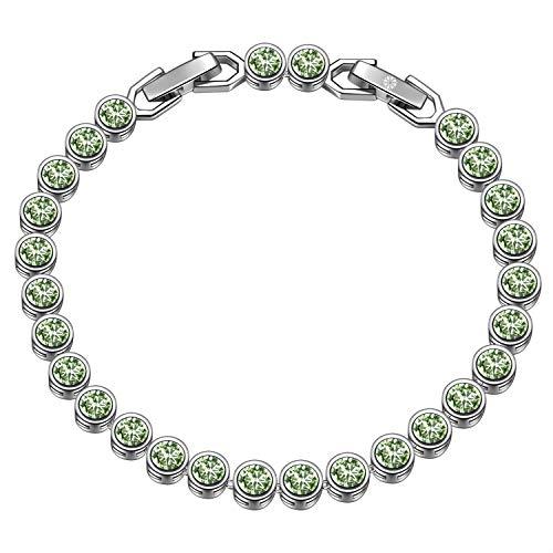 Susan Y muttertagsgeschenke Tennis Armband Frauen schmuck Damen schmuckkästchen Damen Geschenke für Frauen Geschenk für Mama personalisierte Geschenke freundschaftsarmband(Chrysolith)