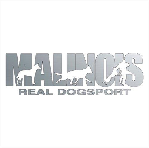 Siviwonder Auto Aufkleber BELGIAN MALINOIS Hundesport DOGSPORT Hundeaufkleber 30cm silber metallic