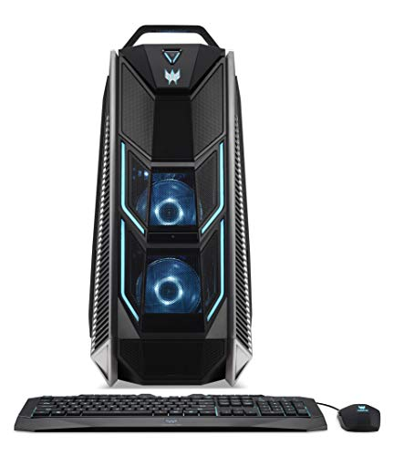 Acer Predator Orion 9000 Gaming PC - (Intel Core i7-7800X, 16GB RAM, 256GB SSD & 1TB HDD, NVIDIA GTX 1080 8GB, RGB Lighting, Windows 10, Black/Metal)