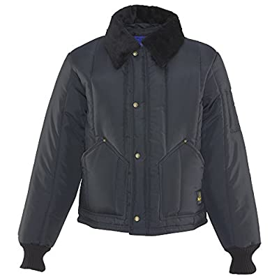 RefrigiWear Men's Water-Resistant Insulated Iron-Tuff Arctic Jacket with Soft Fleece Collar (Navy Blue, XL) from RefrigiWear