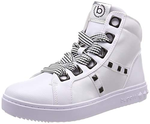 bugatti Damen 432636305969 Hohe Sneaker, Mehrfarbig (White/Black 2010), 42 EU