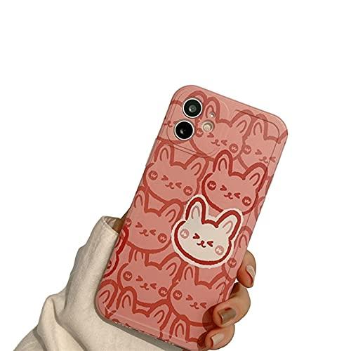 YLFC Custodia per Telefono Giapponese Coniglietto Bambola Coniglio Dolce retrò per iPhone 11 12 PRO Max XR XS Max 7 8 Plus 7Plus Custodia Cover Morbida Carina (Color : 01, Size : for iPhone 12 PRO)