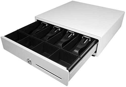 APG VB320-AW1313-B27 Vasario Series Standard-Duty Cash Drawer with MultiPRO Interface, Painted Front, 13.8' x 16.3' x 4', White