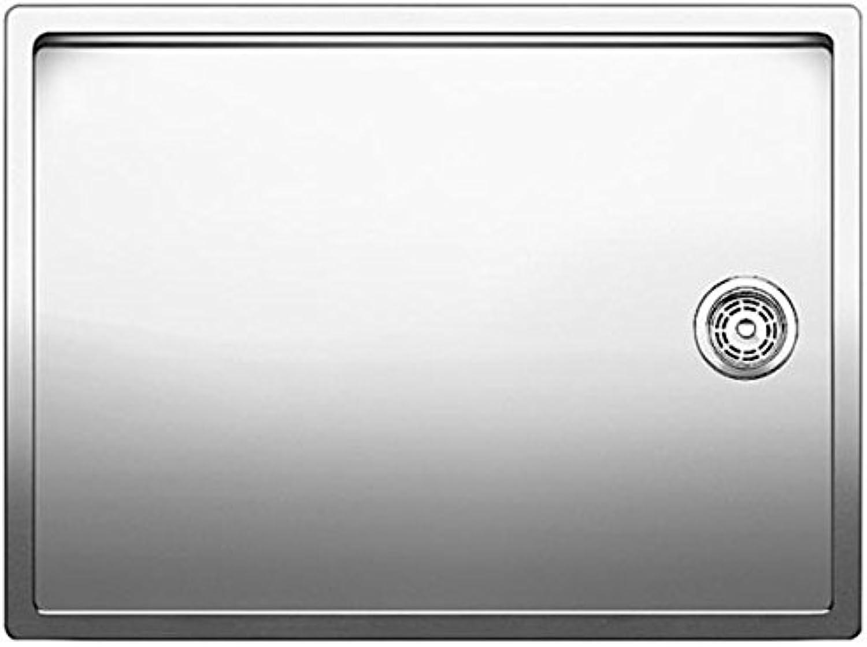 Weiß–Spülbecken mit einer Schale 1517276Finish Edelstahl-59x 44cm