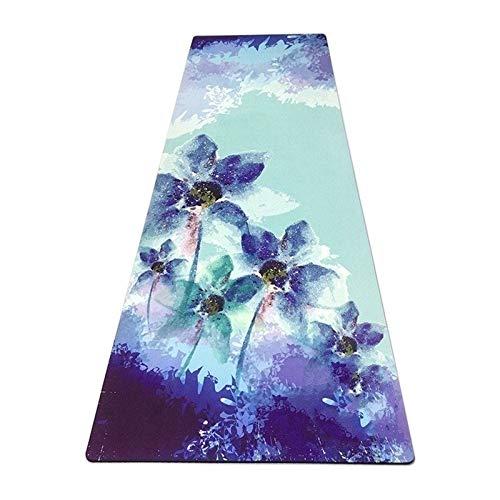 KOXG-S Alfombra de Yoga Yoga De Goma Impreso Deportes Alfombra Antideslizante Recorrido De Los Deportes De Goma Estera De La Aptitud Naturales Esteras