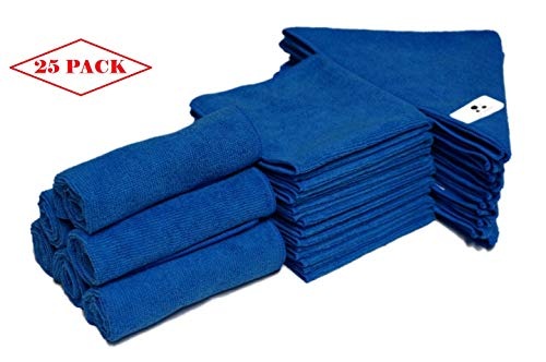 MV WARES Microfiber Cloth 25 Pack - All Purpose Cleaning Cloth Designed to Save You time and Money. Eco Friendly