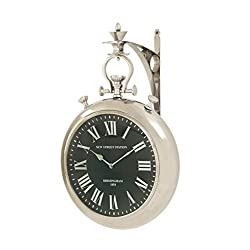 Deco 79 Splendid Steel Wall Clock