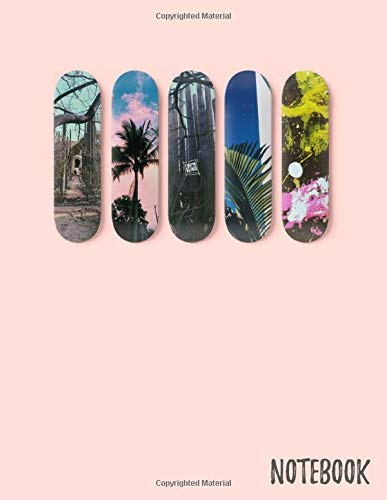 Skateboard Notebook: Journal, Composition Book, 130 pages, Lined, 8.5x11