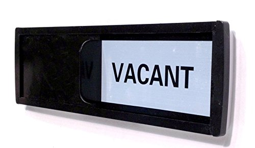 Vacant Sign with Color Options (Restroom Sign, Office Sign, Conference Sign, Privacy Sign, Occupied Sign) - Tells Whether Room in Vacant or Occupied (Black & White Label)