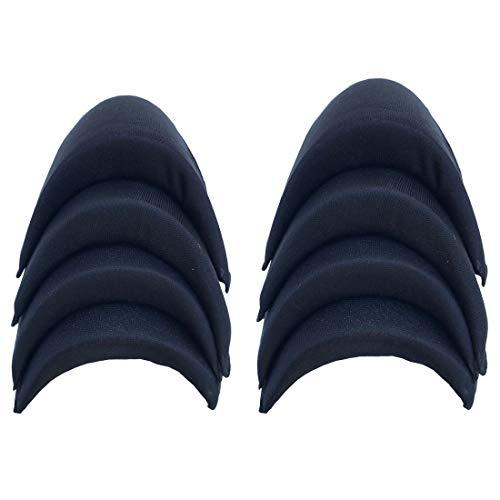 QKAIFRYSUG Sponge Shoulder Pad for Women Men Jacket Blazer T-Shirt Clothing Dress Sewing Accessories 4pairs Black