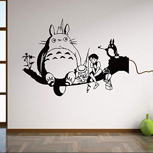 Mi vecino Totoro etiqueta de la pared decoración de la habitación de los niños pintura extraíble impermeable etiqueta personalizada