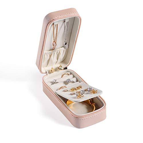 ZRL Organizador portátil para joyas, pequeño collar y aretes, organizador de joyas para viajes y mujeres (color: rosa)
