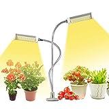 JLDNC Lámpara de Plantas, 50W Lámpara LED Cultivo con Espectro Completo LED Grow Light 3 Modos y 5 Brillo con Función de Temporizador Lámpara de Crecimiento Cuello de Cisne Flexible,D