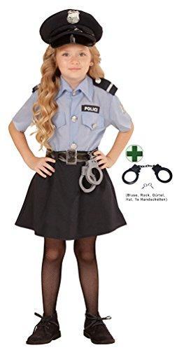 Karneval-Klamotten Kostüm Polizistin Sandra Mädchen-Kostüm Kinder Karneval Fasching Bluse, Rock INKL. Zubehör