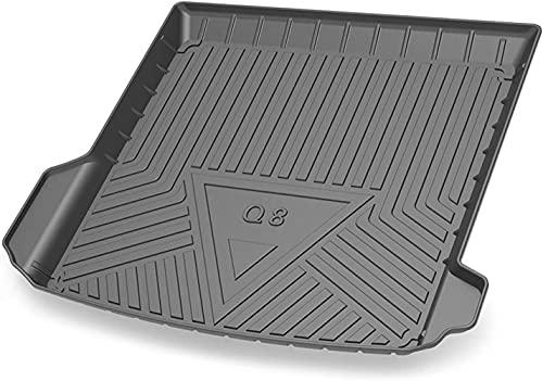 Coche Alfombrillas Maletero, para Audi Q8 2019-2021 Goma Alfombrillas antideslizantes Impermeable Maletero Trasero Alfombra Protection Accesorios