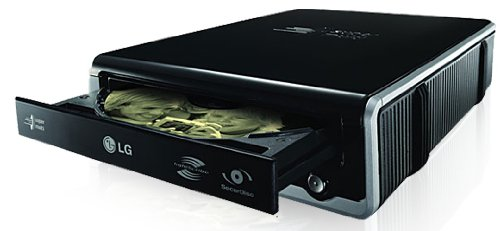 LG Super-Multi External DVD Rewriter with SecurDisc and LightScribe GE24LU20