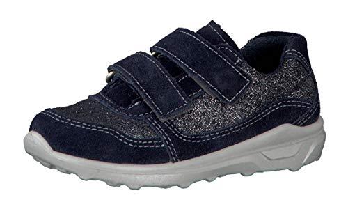 RICOSTA Mädchen Sneaker LELA 6620600, Kinder Low-Top Sneaker,Halbschuh,Sportschuh,Klettschuh, Klett-Verschluss,Nautic,30 EU