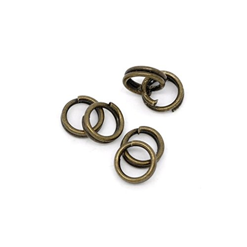 Nähendes Gärtnerlein 50St 4mm Biegeringe antik Bronze Doppelring +Versand aus Deutschland+