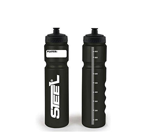 Steel Hockey Trinkflasche Silver Safe' 1.0L Kurzer Halm