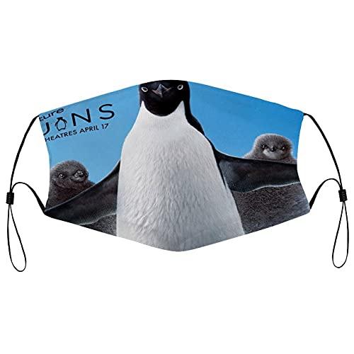 Best-design Máscara facial de pingüinos de carbón activado para la caza del agricultor, máscara respiradora ajustable lavable de motocicleta