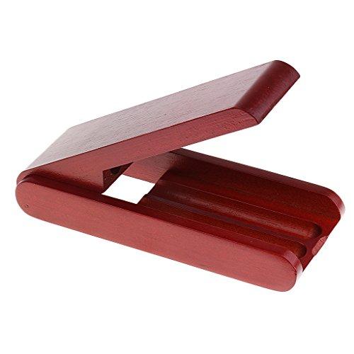 Tragbare Palisander Spezial Füllfederhalter Aufbewahrungskoffer Reisezubehör 16cm